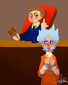 Rick and Morty The Cangura Court by Iamchrisbelacevedo