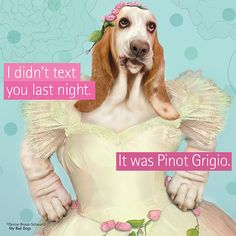 I didn't text you, It was Pinot Grigio. on Behance