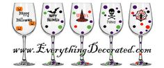 Halloween Wine Glass by EverythingDecorated on Etsy, $9.99