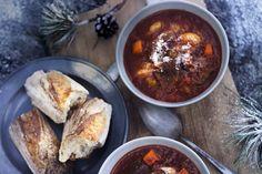 Korv- och köttgryta med parmesan!