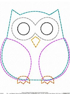 ITH Owl Raggy Applique DIGITAL Embroidery Design You are in the right place about embroidery shoes Here we offer you the most beautiful pictures about the embroidery tree you are looking for. Owl Sewing Patterns, Applique Patterns, Quilt Patterns, Applique Design, Motifs D'appliques, Embroidery Designs, Sewing Crafts, Sewing Projects, Owl Crafts