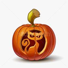 Jack-o-Lantern Spooky Cat vector illustration by George Nazlis (nazlisart) - Stockfresh Jack O'lantern, Halloween Cartoons, Cat Vector, Everyday Objects, Pumpkin Carving, Adobe Illustrator, Illustration, Lanterns, Cool Photos