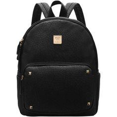 Black Metallic Embellished PU Backpacks (20 CAD) ❤ liked on Polyvore featuring bags, backpacks, backpack, accessories, bolsas, mochilas, black, embellished bag, metallic bag and pu backpack