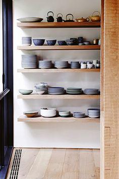 Gorgeous kitchenware on display | Lisa Cohen via Vogue Living