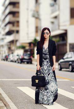 Blog da Lê-Moda e Estílo: Look - Longo com blazer