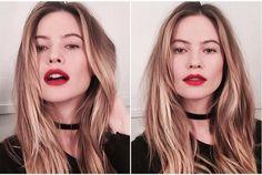 Fita no pescoço é o novo hit. Beautylist.com.br Behati Prinsloo (Foto: Instagram/Reprodução)