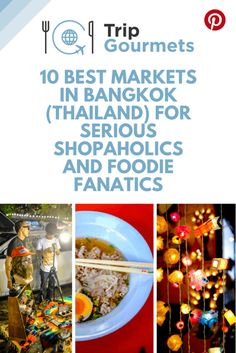 Learn everything you need to know about the 10 best markets in Bangkok (Thailand) for serious shopaholics and foodie fanatics. #travel #markets #bangkok #foodie