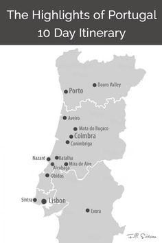 10 Days in Portugal - Trip Itinerary from Lisbon to Porto See the main highlights of Central Portugal with this detailed 10 day Portugal trip itinerary from Lisbon to Porto and all the must see places in between. Portugal Travel Guide, Europe Travel Guide, Spain Travel, Portugal Trip, Portugal Vacation, Travel Destinations, Visit Portugal, Spain And Portugal, European Destination