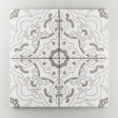 From Fireclay tile.  I loved the tiles in Spain, but we would need to keep resale in mind.  This neutral rendition of traditional tile would solve that issue.  Plus it would be like a coloring book! You could color in with dry erase markers just for fun, and then wipe it clean! Grandola pattern