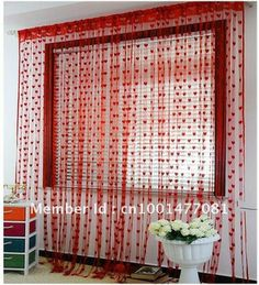free shipping 3m*2.9m heart tassel string curtain,door hanging,single color polyester string curtain,21 color