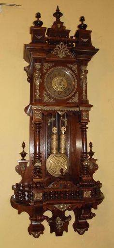 WUNDERSCHÖNE GUSTAV BECKER Wiener Vienner Regulator 2 gewichte in Antiquitäten & Kunst, Mobiliar & Interieur, Uhren   eBay!