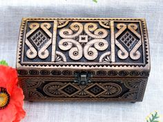 Jewelry box Wooden box Ring box Wood box Cigar box por HappyFlying