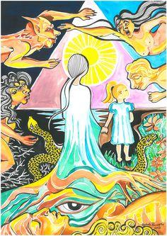 Sonhos de Clarice, Aquarela - Autora: Cybele Ramalho, 2012