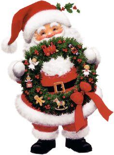 Ruth Morehead Tubes | Père Noël avec la couronne de l'avent 60