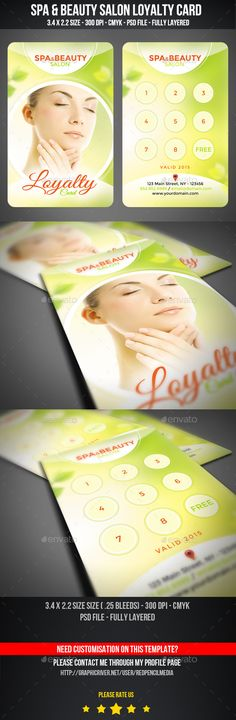 Spa Treatment Brochure Template  Brochure Template Brochures And Spa