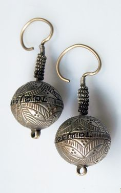 Nurstan Afghanistan Silver Ear Ornament Tribal Earrings, Tribal Jewelry, Bohemian Jewelry, Earrings Handmade, Handmade Jewelry, Antique Jewelry, Vintage Jewelry, Jewelry Patterns, Vintage Silver