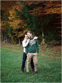 Siegrid cain stylish gay couple autumn engagement Austria analogue Kodak