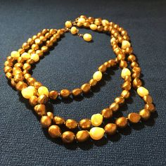 Freshwater Pearl Necklace  Baroque pearl necklace brown
