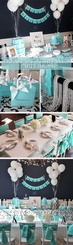 Breakfast at Tiffany's Party Ideas, Breakfast at Tiffany's Party Theme…