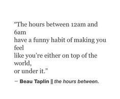 The hours between 12am and 6am ... | Quotes | Pinterest | The ...