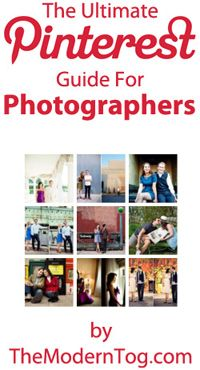 Great tips for photographers or anyone else who wants to marketing their work on Pinterest.