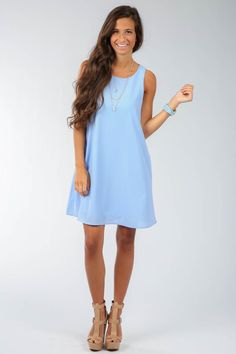 R3: EVERLY:On Cloud Nine Dress-Sky | The Red Dress Boutique