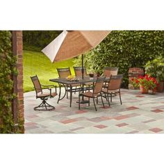 portico 7 pc dining set costco patio pinterest dining sets