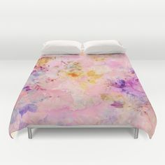 roses sorbet Duvet Cover #floral,#roses,#abstract,#pink,#soft,#romantic