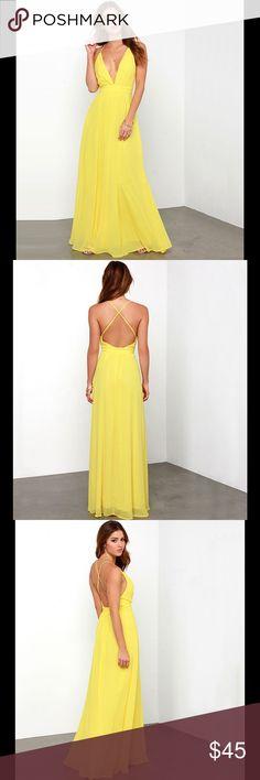 ➖Beautiful Yellow Chiffon Dress NWT - Brand New -Chiffon Material ? Size 10-12. N0 Brand J. Crew Dresses Backless