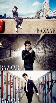Kim Soo Hyun's trip to London to be featured in 'Harper's BAZAAR' #allkpop #kpop