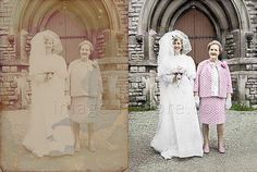Old wedding photo restored in colour Old Wedding Photos, Old Photos, Vintage Photos, Gimp Photo Editing, Photo Repair, Photo Restoration, Colouring Techniques, Photoshop Elements, Photoshop Tutorial