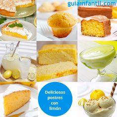 El limón es una de las frutas más ricas en minerales y vitaminas. Además, es fruta muy versátil en la cocina, esta es la prueba... http://www.guiainfantil.com/recetas/postres-y-dulces/frutas/recetas-de-postres-y-dulces-con-limon-para-ninos/