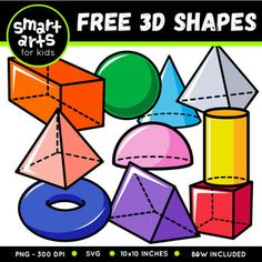 2d And 3d Shapes, 3d Shapes For Kids, Owl Clip Art, School Clipart, Classroom Clipart, Smart Art, Art Education, Health Education, Physical Education