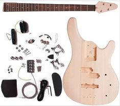 IB electric bass guitar kits /DIY guitar basswood body maple neck including all the accessories #ovationguitars