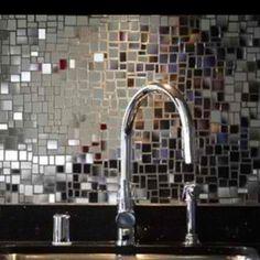 Rock N Roll--Mirrored Tile Black Splash in Dave Navarro's Kitchen