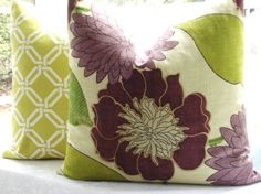 Decorative Pillow CoverDesigner Fabric 22x22 by thecottagecupboard, $47.50