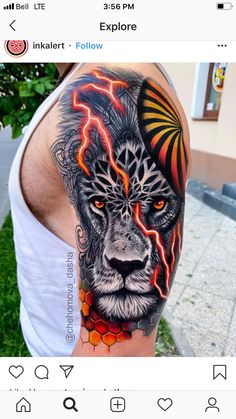 50 Eye-Catching Lion Tattoos That'll Make You Want To Get Inked - Tattoo - Lion Head Tattoos, Forarm Tattoos, Leo Tattoos, Tiger Tattoo, Forearm Tattoo Men, Animal Tattoos, Body Art Tattoos, Hand Tattoos, Tattoo Ink