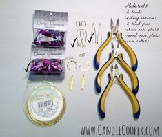 How to Make Easy Earrings with Wrapped Loops - Candie Cooper