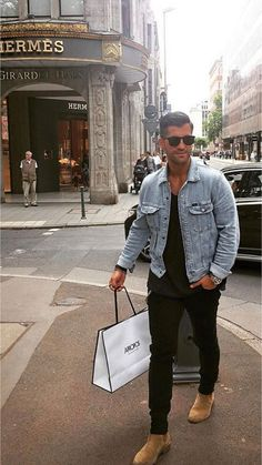 Ideas for moda hombre casual outfits belts Cool Outfits, Casual Outfits, Fashion Outfits, Denim Jacket Men, Men's Denim, Denim Jackets, Jean Jackets, Mens Clothing Styles, Stylish Men