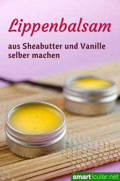 Simply make your own lip balm with shea butter and vanilla .- Lippenbalsam mit Sheabutter und Vanille einfach selbst herstellen Make your own lip balm from shea butter and vanilla - Diy Beauty, Beauty Skin, Beauty Hacks, Beauty Tips, Beauty Box, Beauty Care, Mascarilla Diy, Homemade Deodorant, Smoky Eye
