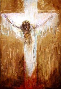 Living the Lectionary: Advent 1b - Psalm 80:1-7; 17-19 Catholic Art, Religious Art, Croix Christ, Christian Artwork, Christian Paintings, Cross Art, Les Religions, Prophetic Art, Jesus Art