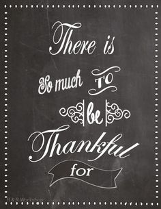R & R Workshop: There's So Much To Be Thankful For- Printable