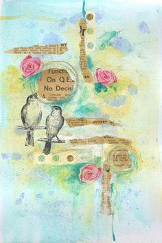 beautiful altered book page