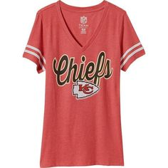 Old Navy Womens NFL Sleeve Stripe Tee ($23) ❤ liked on Polyvore featuring tops, t-shirts, red t shirt, red stripe t shirt, striped t shirt, old navy t shirts and short sleeve tops