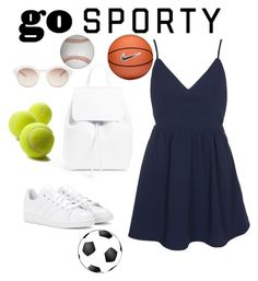 """""""Sporty Chic!"""" by aegreen23 on Polyvore featuring adidas, Mansur Gavriel, self-portrait and NIKE"""