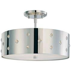 """George Kovacs Bling Bling Collection 14"""" Wide Ceiling Light"""