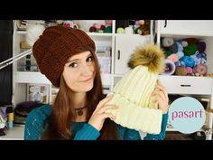 Jak zrobić czapkę na szydełku? Łatwa czapka dla początkujących ⋆ Szydełkowanie krok po kroku ♥ Wzory ♥ Schematy ♥ Podstawy ♥ Jak zacząć ⋆ Pasart Blog Knitted Hats, Crochet Hats, Winter Hats, Youtube, Knitting, Diy, Blog, Fashion, Tricot