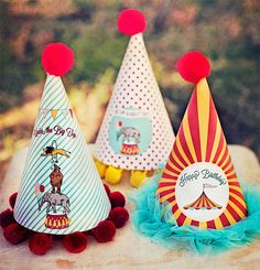 Circus Carnival Party Hats  Printable by paigesofstyle on Etsy, $8.00
