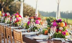 Kahua Ranch - Hawaii Venues - Colorful chic outdoor wedding reception venue