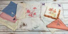 Vintage 1950s Era Womens Hankie Handkerchief Lot Floral Novelty Paris Ocean City   eBay